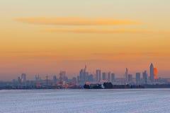 krajobraz z panoramą Frankfurt Obraz Stock