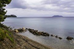 Krajobraz z pięknym nadbrzeże wizerunkiem Zdjęcia Royalty Free