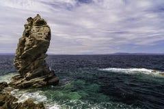 Krajobraz z pięknym nadbrzeże wizerunkiem Obraz Stock