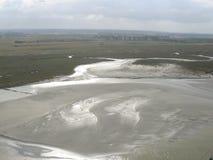 Krajobraz z plażą w przodzie Obrazy Royalty Free