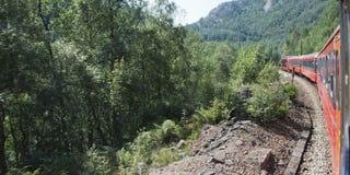 Krajobraz z pociągami Zdjęcia Stock