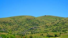 Krajobraz z polami i łąkami w Turcja Fotografia Stock