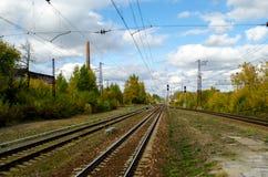 Krajobraz z poręczami Fotografia Stock