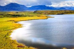 Krajobraz z rząd łodzią Obrazy Royalty Free
