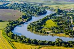 Krajobraz z rzeką obraz stock