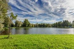 Krajobraz z rzeką Obrazy Stock