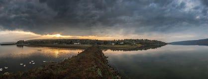 Krajobraz z rzeką Obraz Royalty Free