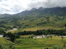 Krajobraz z rzeką w Sapa Zdjęcie Royalty Free