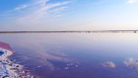 Krajobraz z słonym morzem w Sivash Zdjęcia Stock