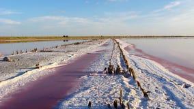 Krajobraz z słonym morzem w Sivash Zdjęcie Royalty Free
