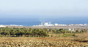 Krajobraz z Termiczną elektrownią Fotografia Stock