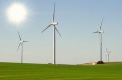 Krajobraz z wiatraczkami Obrazy Stock