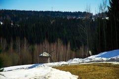 Krajobraz z wiatraczkiem Zdjęcia Royalty Free