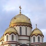 Krajobraz z widokami nowy Athos chrześcijanina monaster fotografia stock