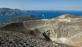Vulcan krater z widokiem. Obrazy Royalty Free