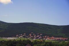 Krajobraz z wioską Obraz Stock