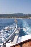 Krajobraz z wodą i kotwicą - morze egejskie, Grecja Zdjęcia Stock