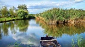 Krajobraz z wodą fotografia stock