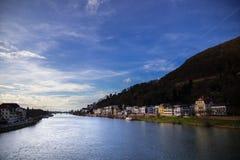 Krajobraz z wodną powierzchnią Obraz Royalty Free