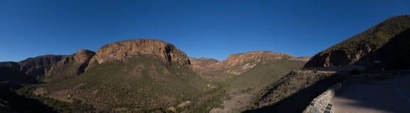 Krajobraz Zachodni przylądek wzdłuż trasy 62 w Południowa Afryka zdjęcia stock