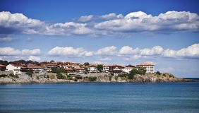 Krajobraz zatoka w Sozopol, Bułgaria. Widok na Czarnym morzu Obraz Royalty Free