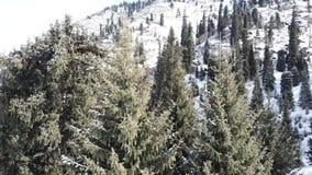Krajobraz zim góry z trutniem zbiory