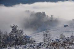 krajobrazowa śnieżna zima Zdjęcia Royalty Free
