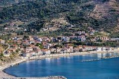 Krajobrazowa Agnone Cilento wioska, Włochy Obrazy Royalty Free