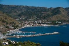 Krajobrazowa Agnone wioska, Cilento wybrzeże, Włochy Zdjęcie Royalty Free