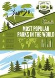 Krajobrazowa architektura lub horticulture infographic ilustracji