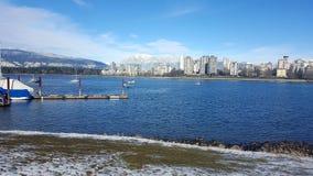 Krajobrazowa budynek gór zima Vancouver obrazy stock