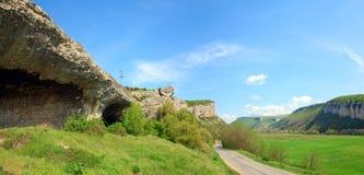 krajobrazowa Crimea wiosna Ukraine Obrazy Royalty Free