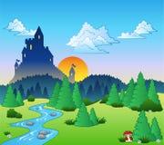 krajobrazowa czarodziejki (1) bajka ilustracji