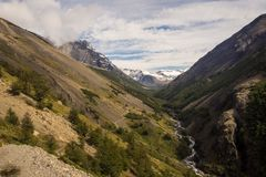 Krajobrazowa Dolina Torres Del Paine Obrazy Stock