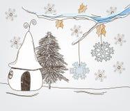 krajobrazowa fantazi zima ilustracji