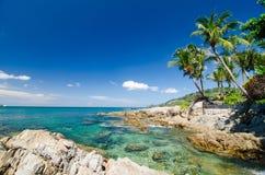 Krajobrazowa fotografia pathong plaża Obrazy Stock