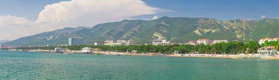 Krajobrazowa góra i morze Fotografia Royalty Free