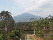 Krajobrazowa góra i wioska Fotografia Stock
