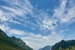 Krajobrazowa góra z chmurą Fotografia Stock