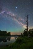 krajobrazowa gwiaździsta noc fotografia royalty free