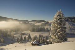 krajobrazowa halna zima Zdjęcie Royalty Free