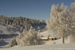 krajobrazowa halna zima Obrazy Royalty Free