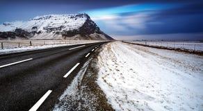 krajobrazowa Iceland droga Zdjęcie Stock