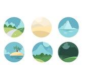 Krajobrazowa ikona ilustracja wektor