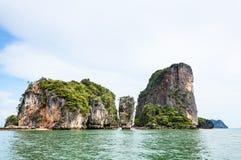 Krajobrazowa KhaoTapu lub James Bond wyspa zdjęcie stock