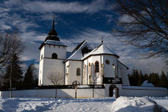 krajobrazowa kościół zima Fotografia Royalty Free