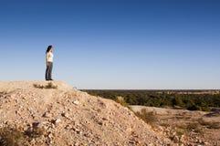 krajobrazowa kobieta Zdjęcia Stock