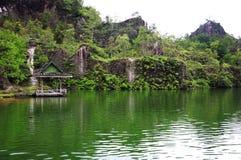 Krajobrazowa laguna w lesie Obrazy Stock