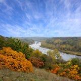 krajobrazowa las rzeka obraz royalty free