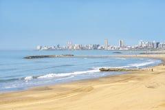 Krajobrazowa Mar Del Plata linia horyzontu Obrazy Stock